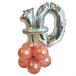 WEIGHT - BALLOONS BASE WITH DOUBLE SILVER NUMBER