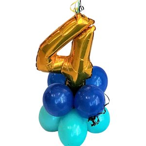 WEIGHT - BALLOONS BASE WITH GOLD NUMBER