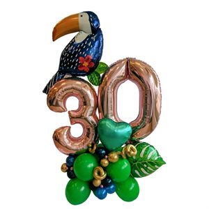 FASHION ARRANGEMENT - 30 YRS WITH TOUCAN