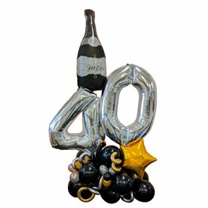 FASHION ARRANGEMENT - 40 YRS WITH CHAMPAGNE