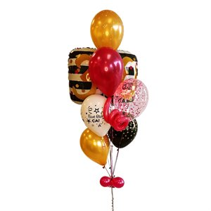 BALLOONS ARRANGEMENT - 30 YRS OLD 25 IN. PINK & GOLD