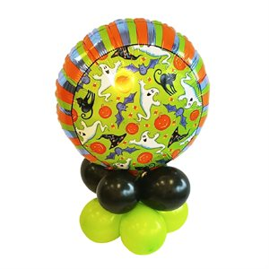 BALLOONS BASE WITH 18 IN. FOIL BALLOON - HALLOWEEN