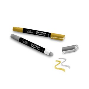 Craft Decor - Chalk Writer 2pk Blister-Carded - Gold/Silver