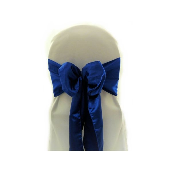BRIDAL SATIN CHAIR SASHES - RENTAL
