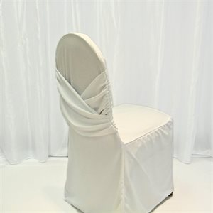 POLYESTER CHAIR COVER WITH BAND - RENTAL
