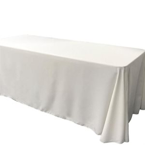 NAPPE RECTANGULAIRE EN POLYESTER 60 X 120 PO. - LOCATION