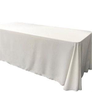 POLYESTER RECTANGULAR TABLECLOTH 90'' X 156'' - RENTAL