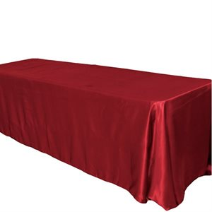 BRIDAL SATIN RECTANGULAR TABLECLOTH 90'' X 156'' - RENTAL