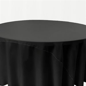 POLYESTER ROUND TABLECLOTH 132'' - RENTAL