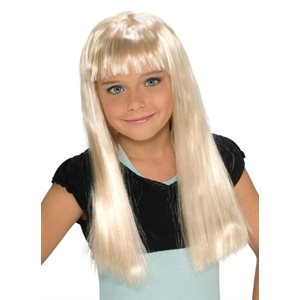 PERRUQUE DE POP STAR BLONDE ENFANT