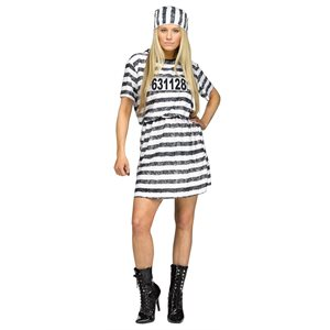 ADULT CONVICT WOMAN COSTUME ONE SIZE